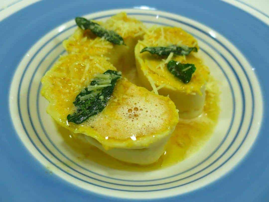 pumpkin-and ricotta-rotol-with-burnt-butter-and-sage-sauce