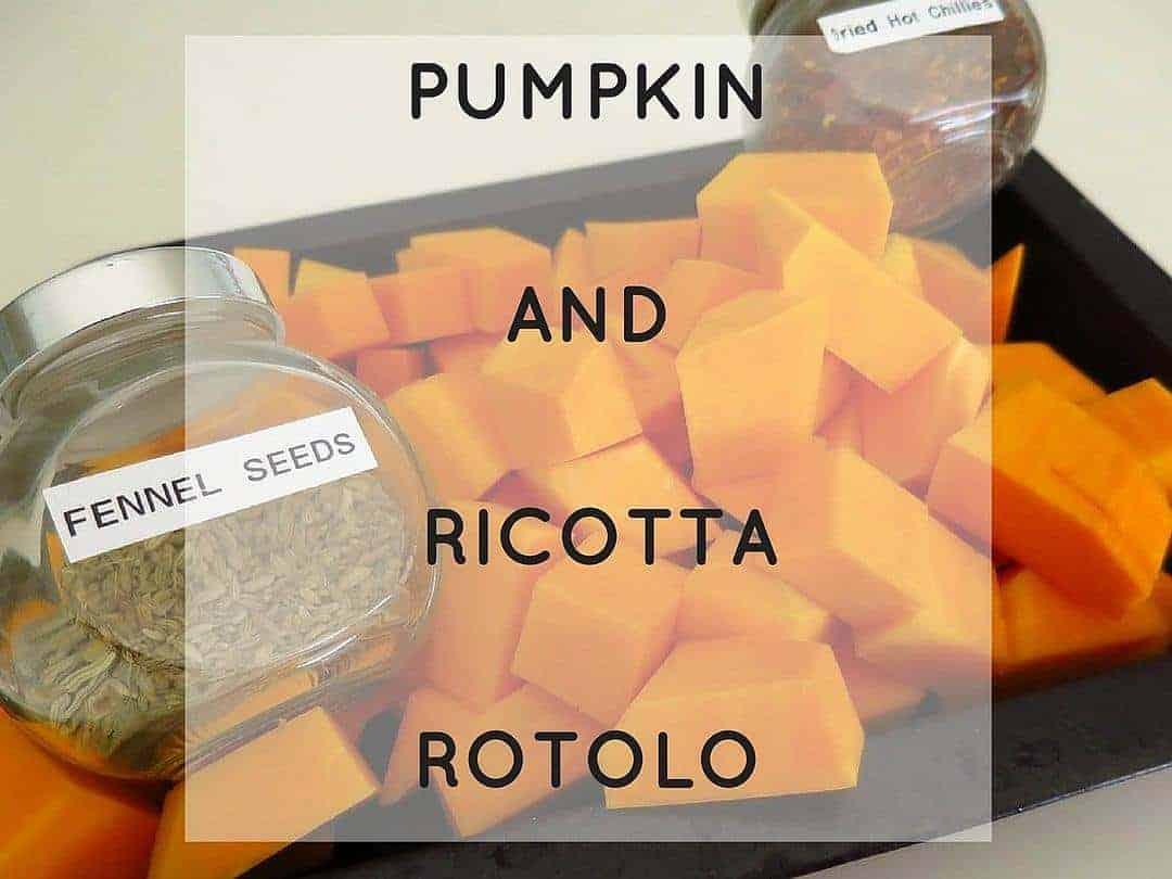 Making healthy pumpkin and ricotta rotolo