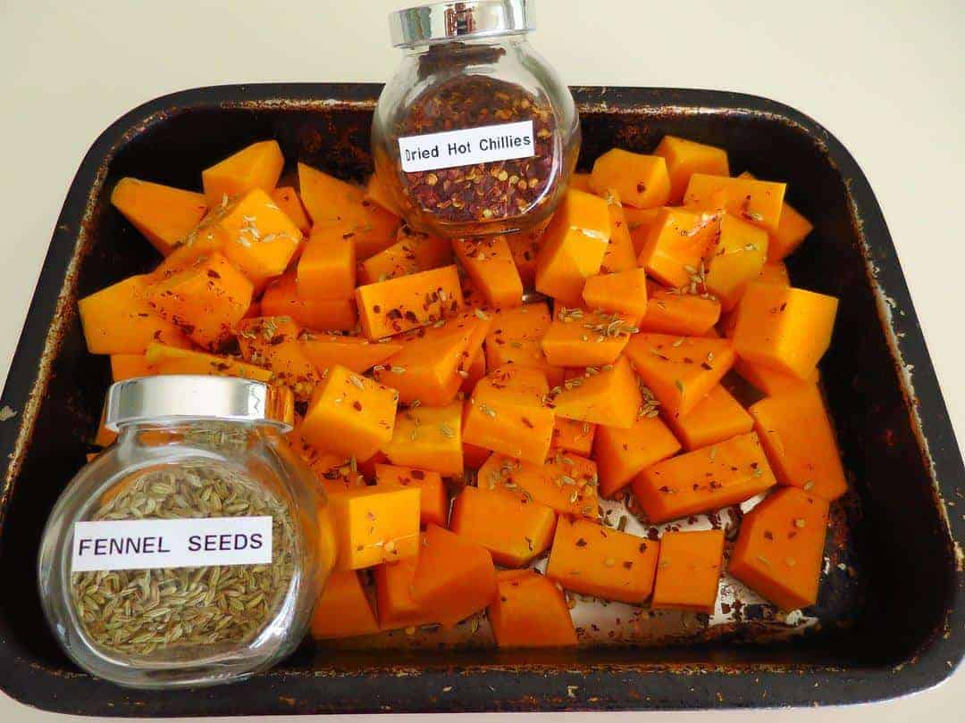 Making healthy pumpkin and ricotta rotolo - ingredients
