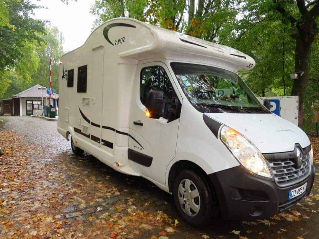 Parking our campervan in Antwerp - campervan hire in France
