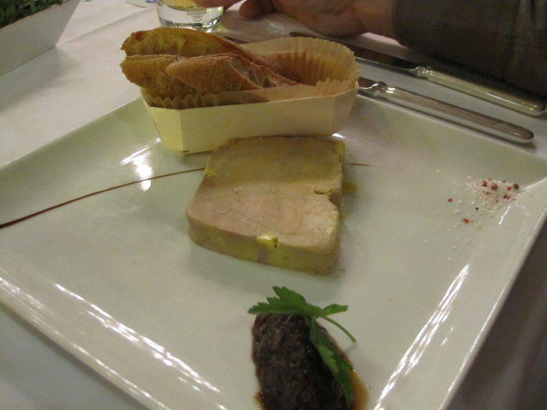 Foie Gras at one of the best restaurants in Paris- Le Train bleu