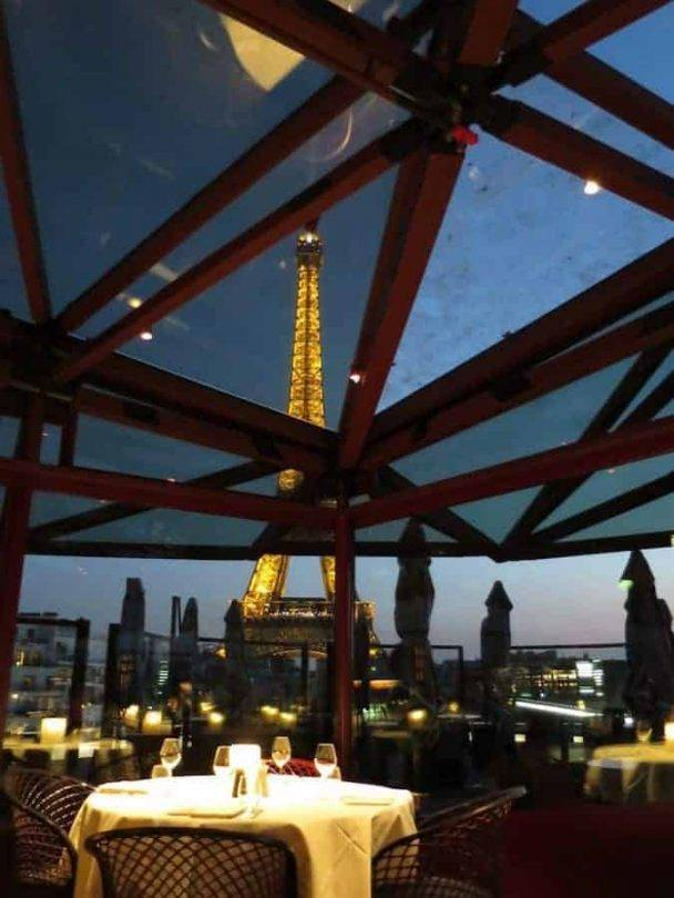 Dining With A View Of The Eiffel Tower Les Ombres