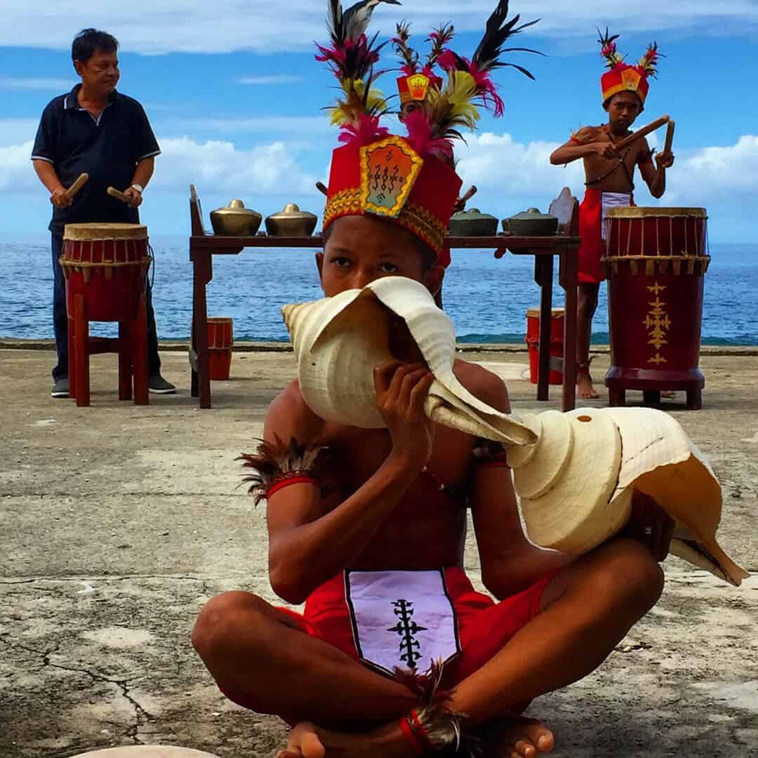 Sapureka dance at Namalutu Beach - one of four interesting cities in Indonesia