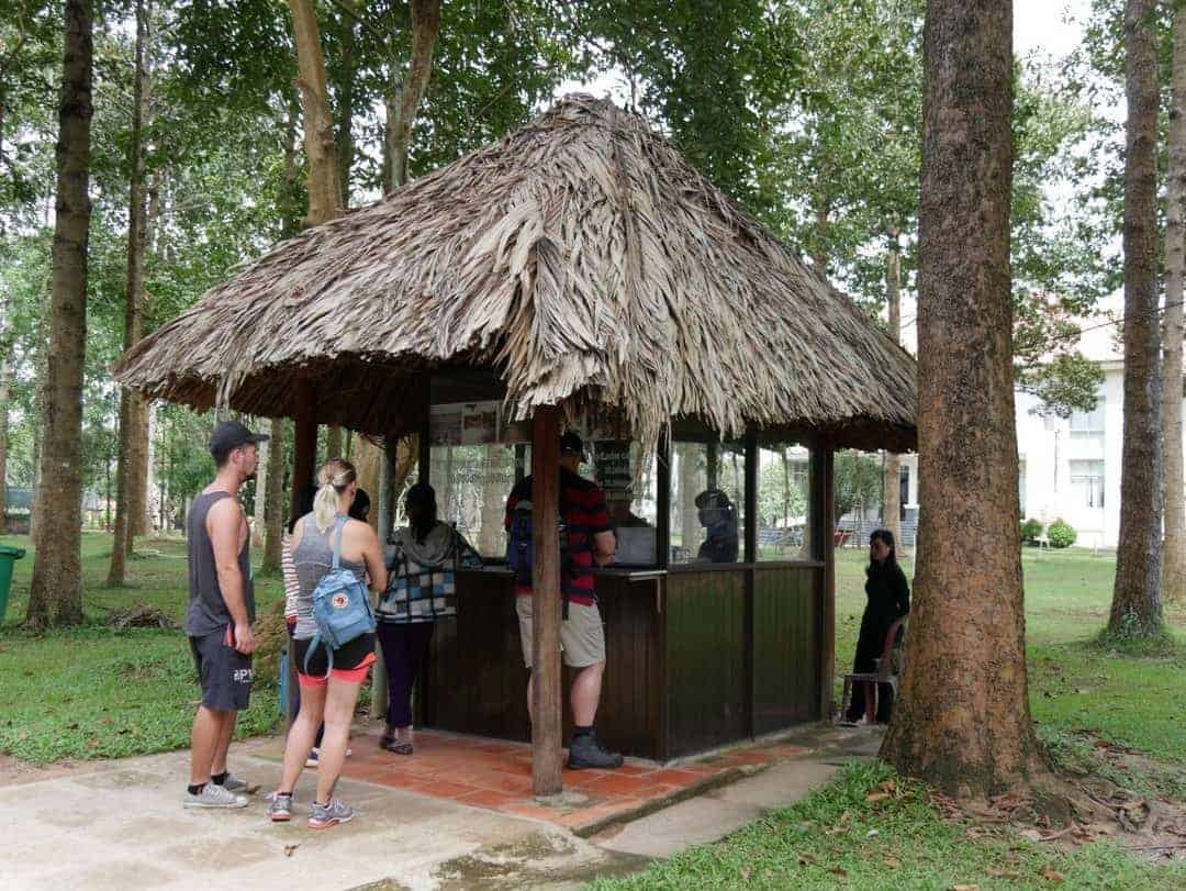 ticket booth at entrance to ben duoc cuchi tunnels