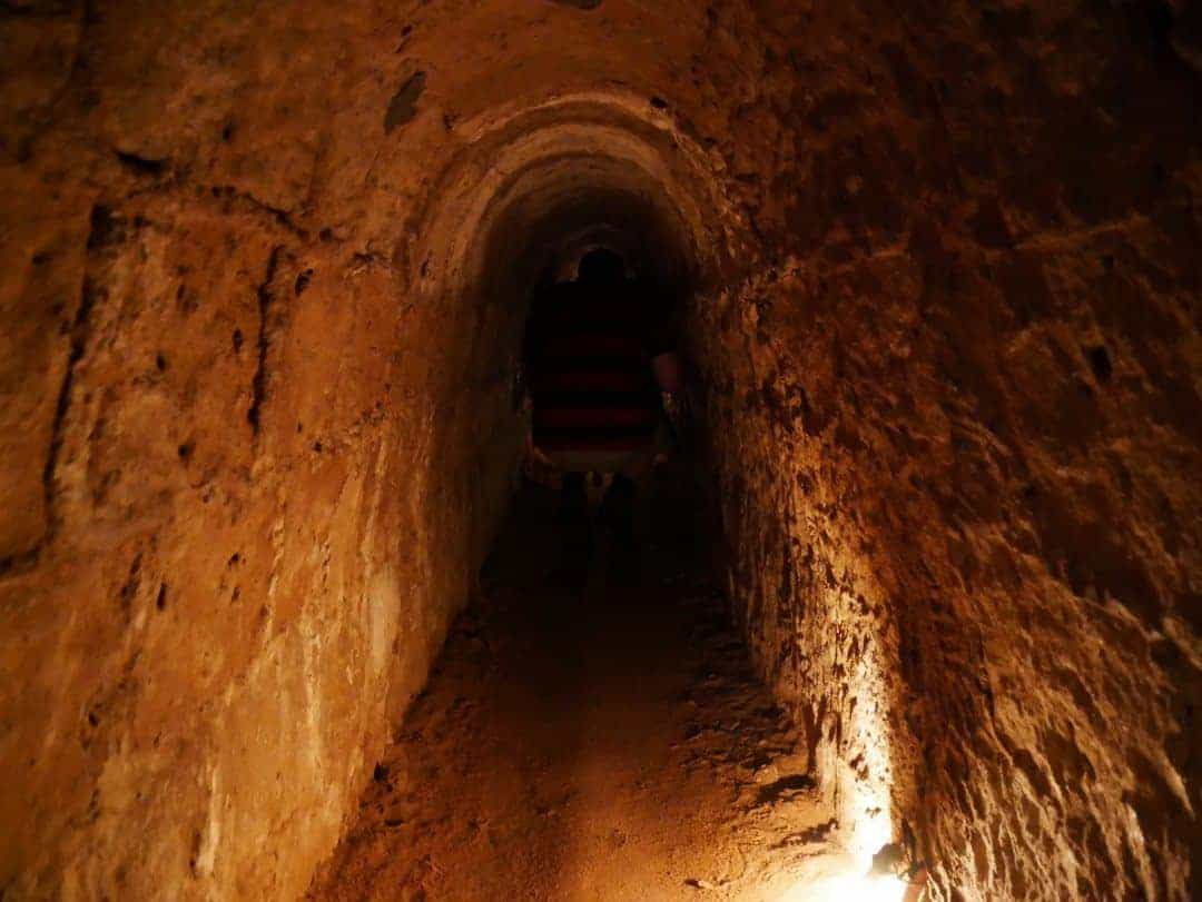 crawling through the cuchi tunnels in vietnam