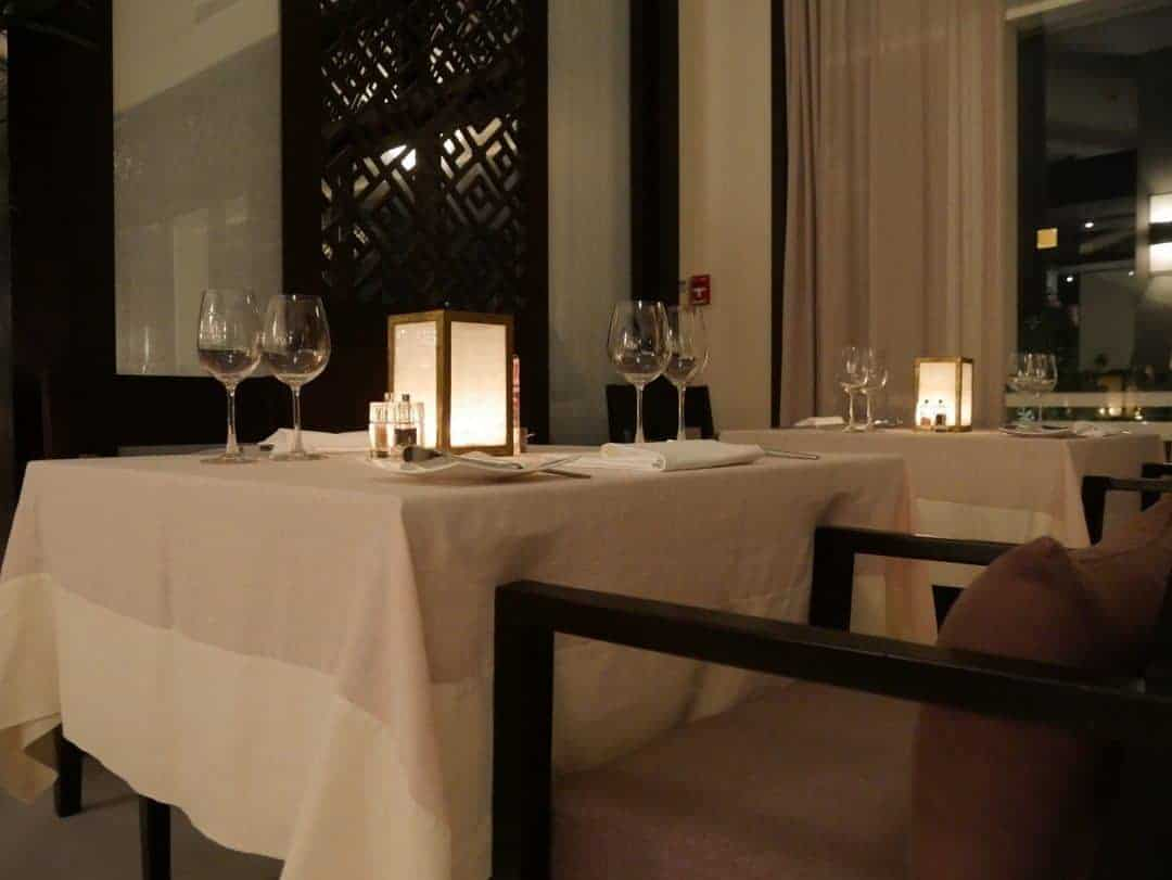 The dining room at Five Dining
