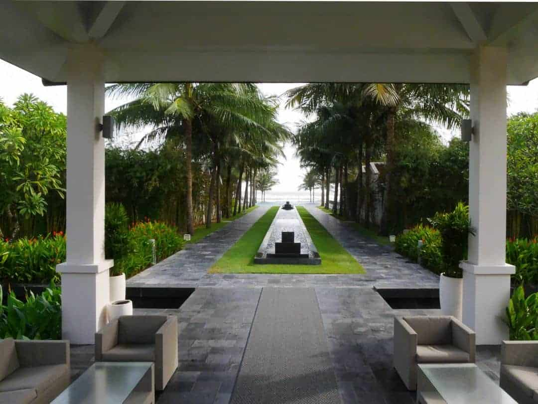 The view from the main building looking towards the ocean at Fusion Maia Danang