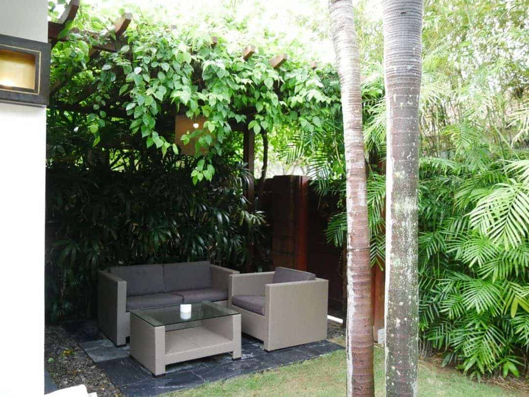Outdoor lounge area at Fusion Maia Danang - where to stay in Da Nang