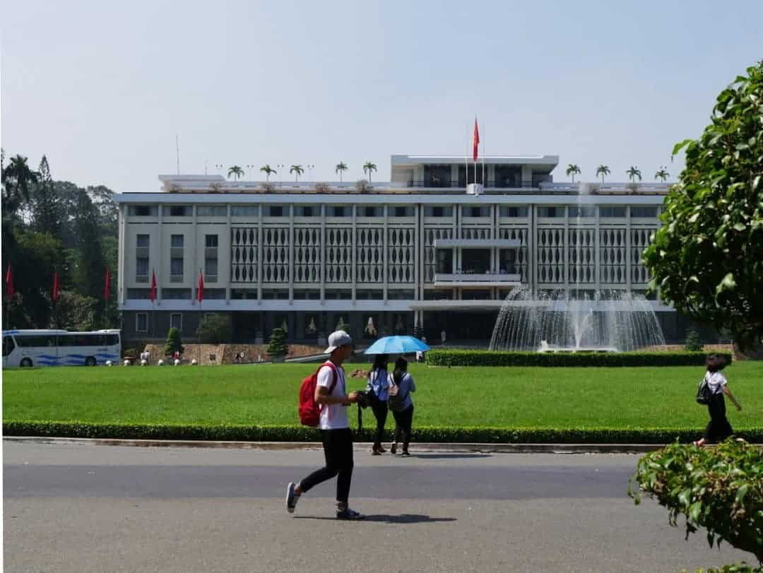 The front of the Independence Palace