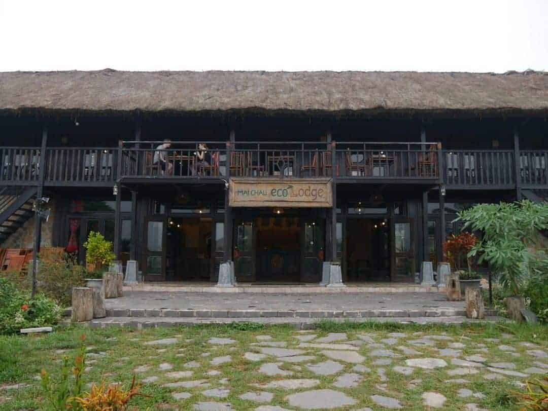 Main building and restaurant