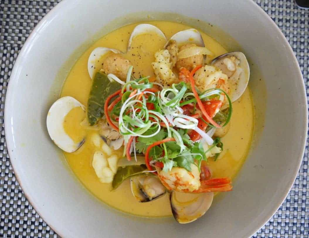 curry with seafood at pullman danang