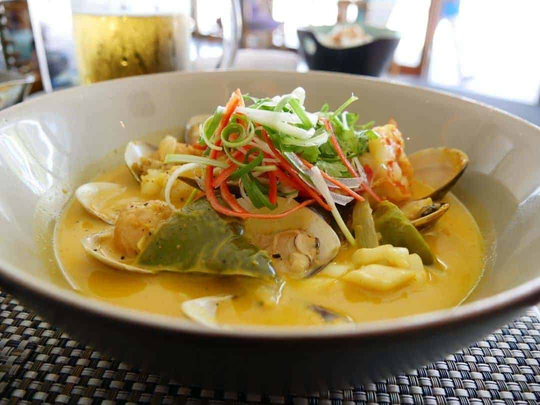 Seafood curry - eating at pullman danang beach resort