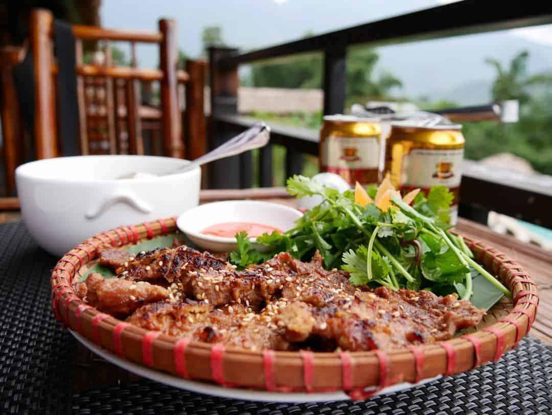 Great curries and stirfries Mai Chau Lodge