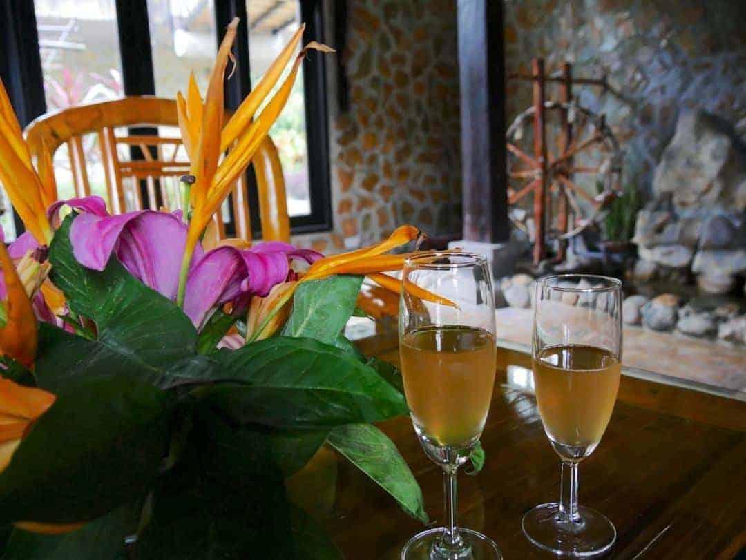 The welcome drink at Mai Chau Eco lodge