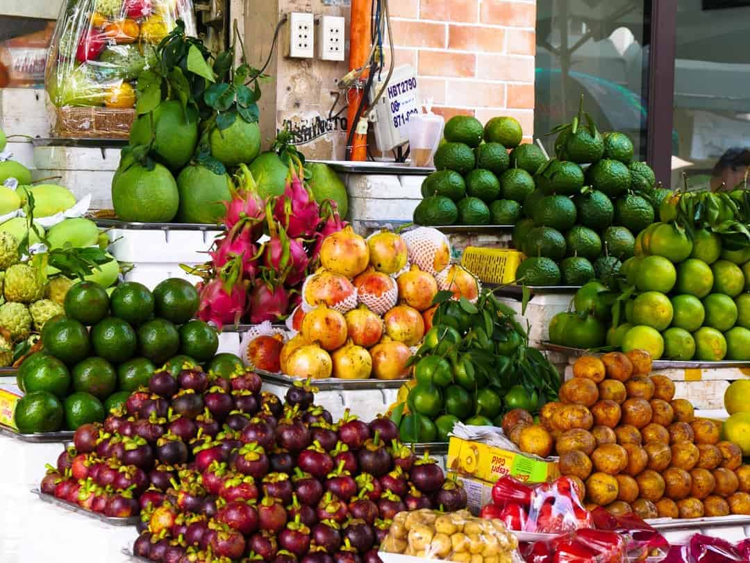 The bright fruits of street markets