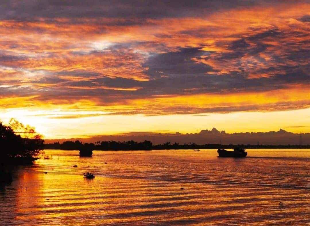 The stunning sunrises of the Mekong Delta