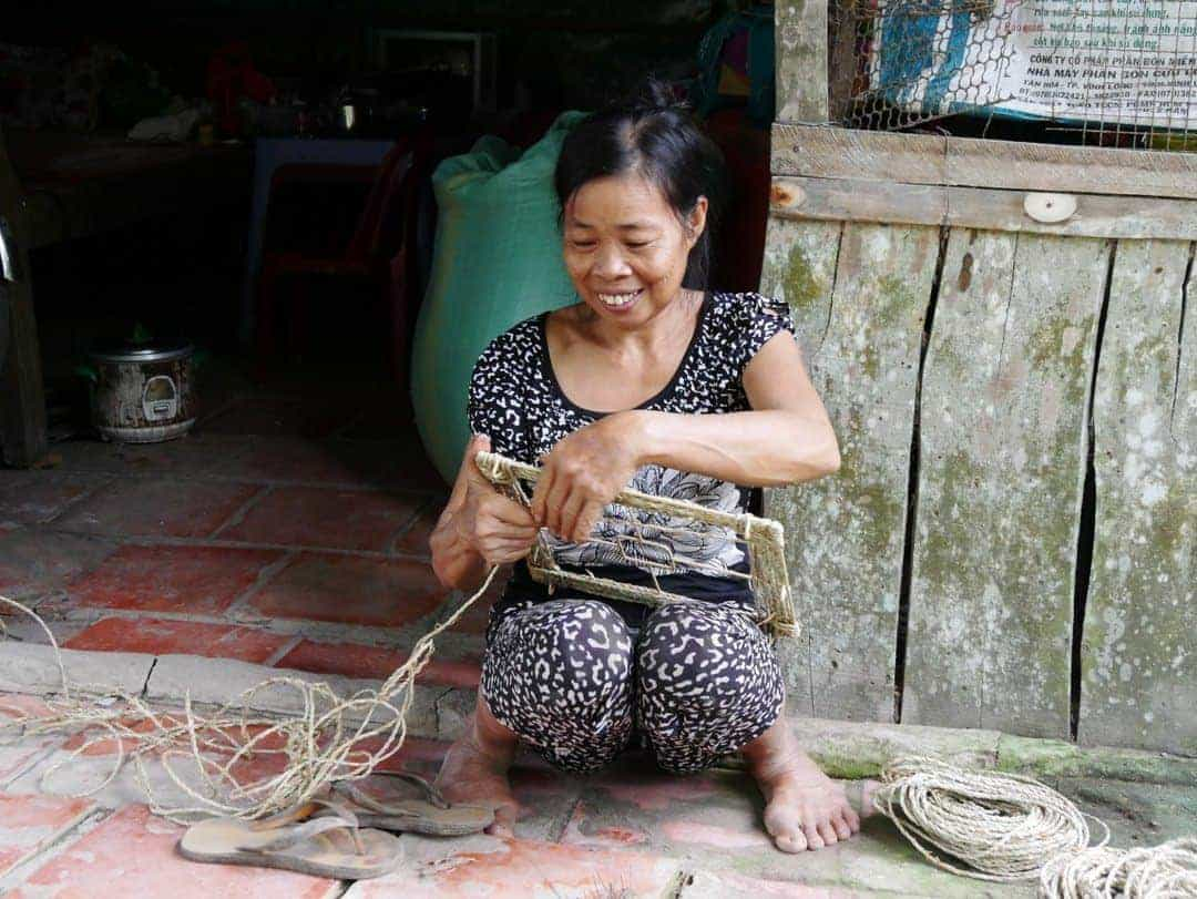 Basket weaving Mekong Delta
