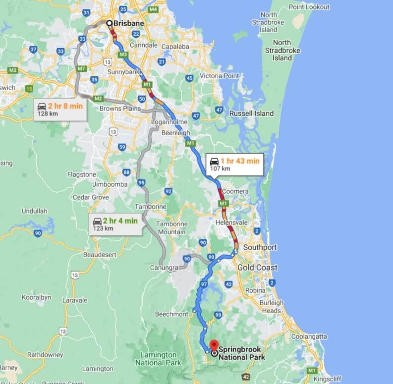 driving-routes-to-springbrook-national-park
