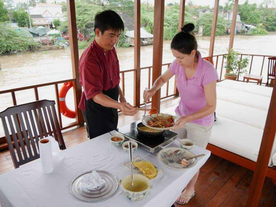 cooking class on mekong