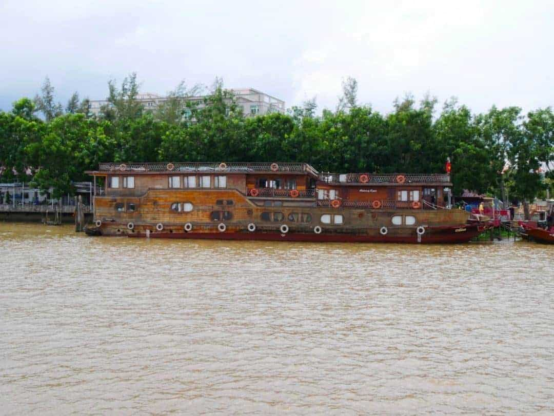 The larger Mekong Eyes boat