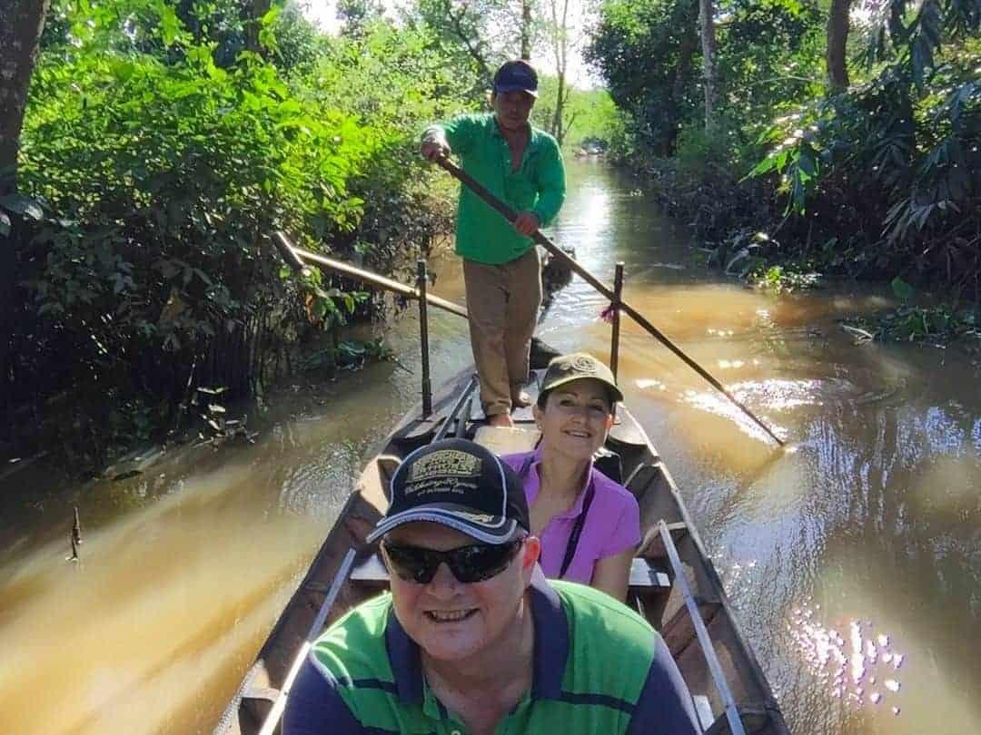 sampan ride mekong delta