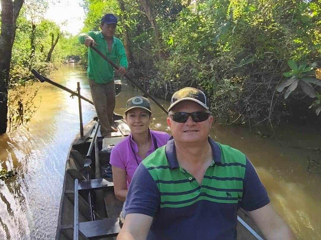 Sampan on the Mekong Delta