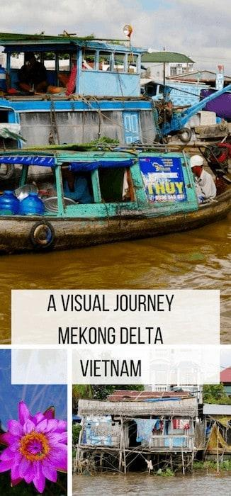 There are some amazing tours through the Mekong Delta in Vietnam. Here's my visiual journey to make you want to book that trip right now!