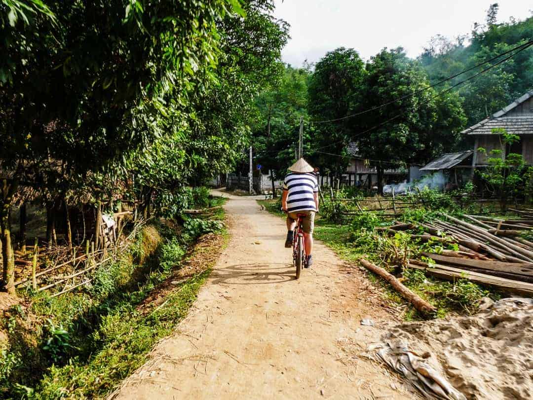 Riding through Mai Chau villages