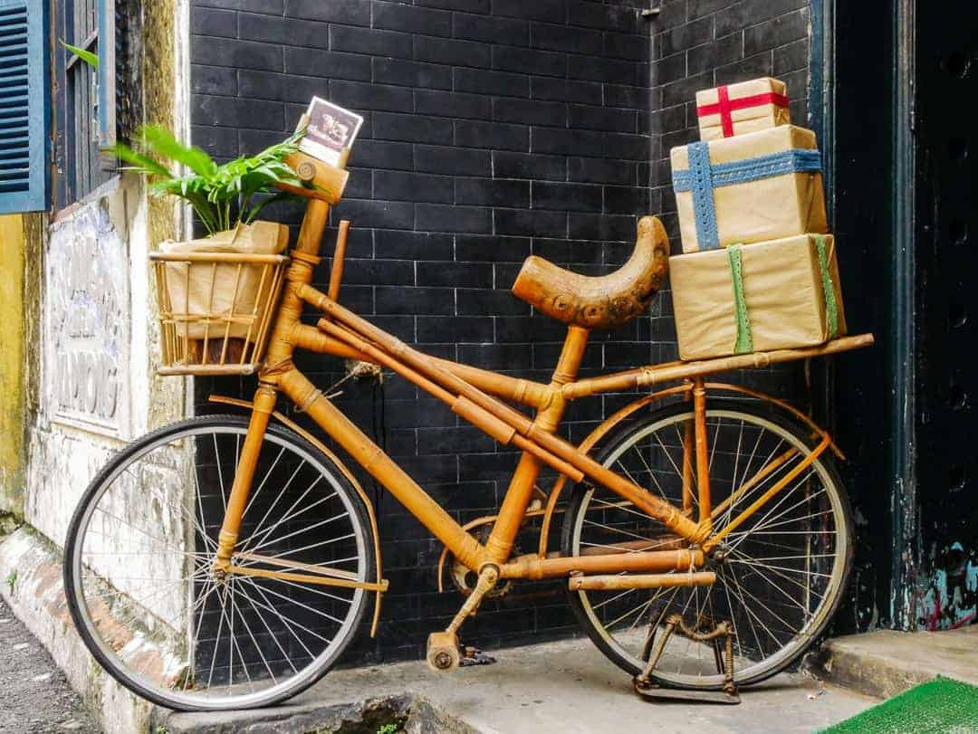 A bike made from bamboo