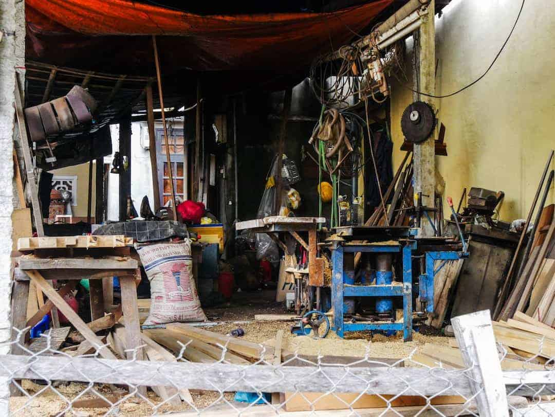 Inside a workshop in Hoi An