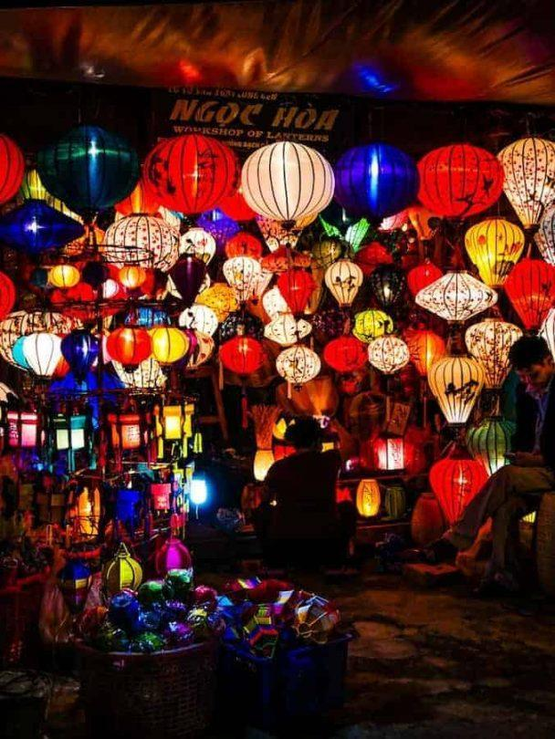 Hoi An lanterns at night - complete list of what to do in Hoi An in 24 hours