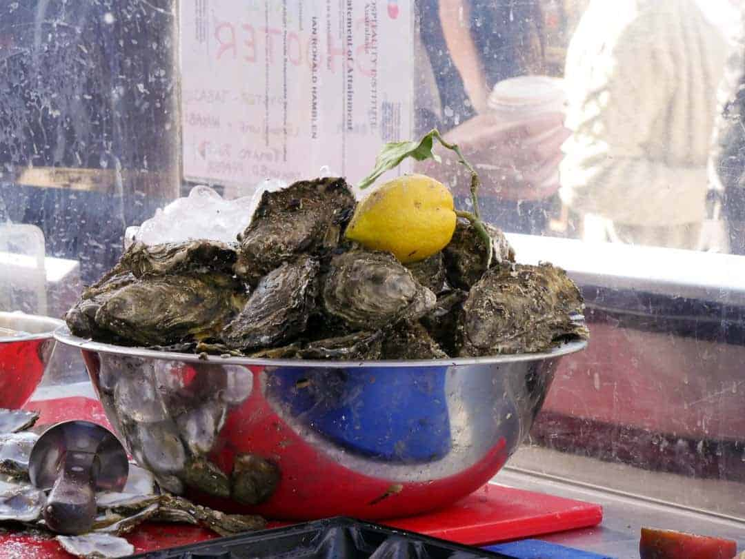 oysters from the Farm Gate Market