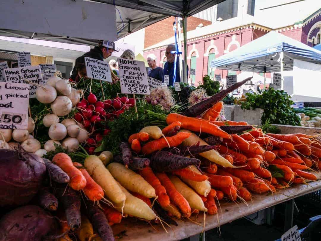 Best markets in Hobart carrots