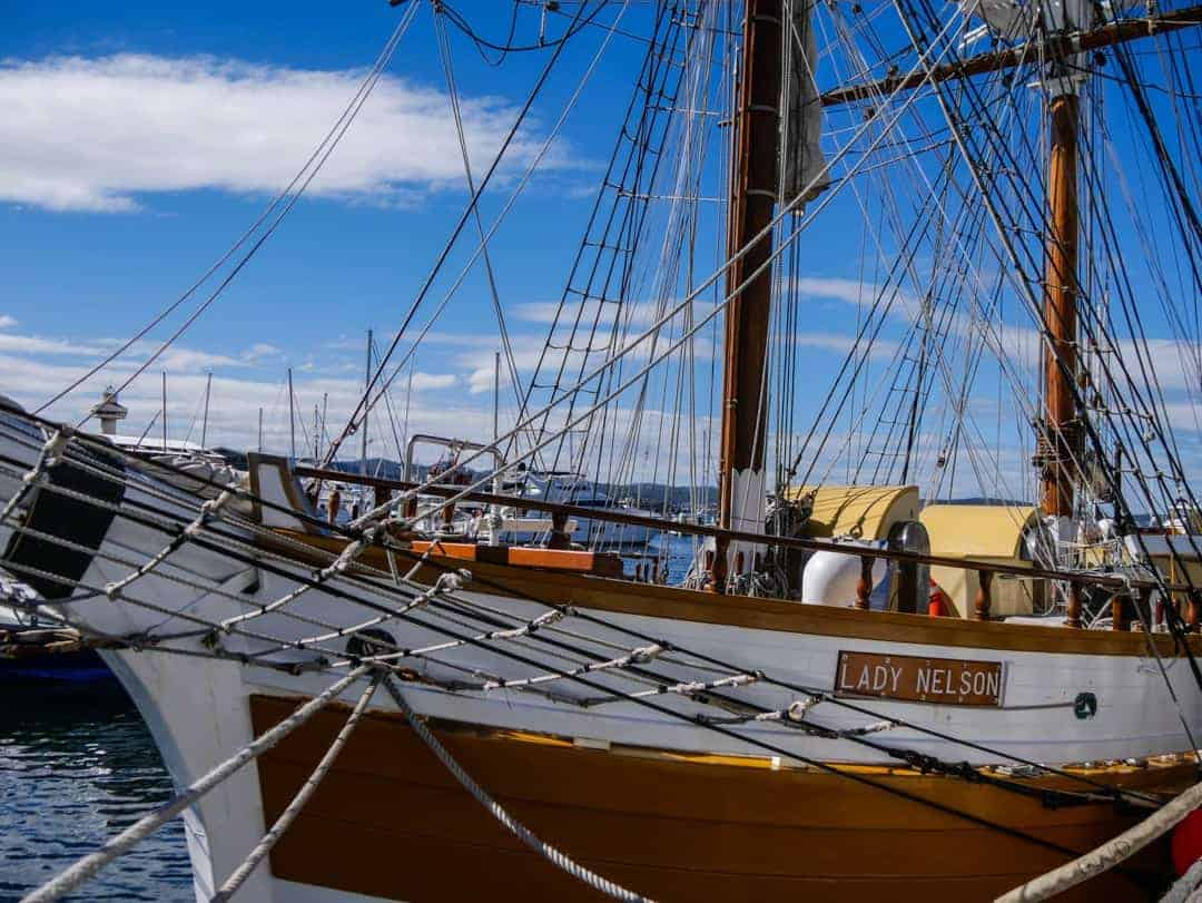 Lady Nelson boat in Hobart