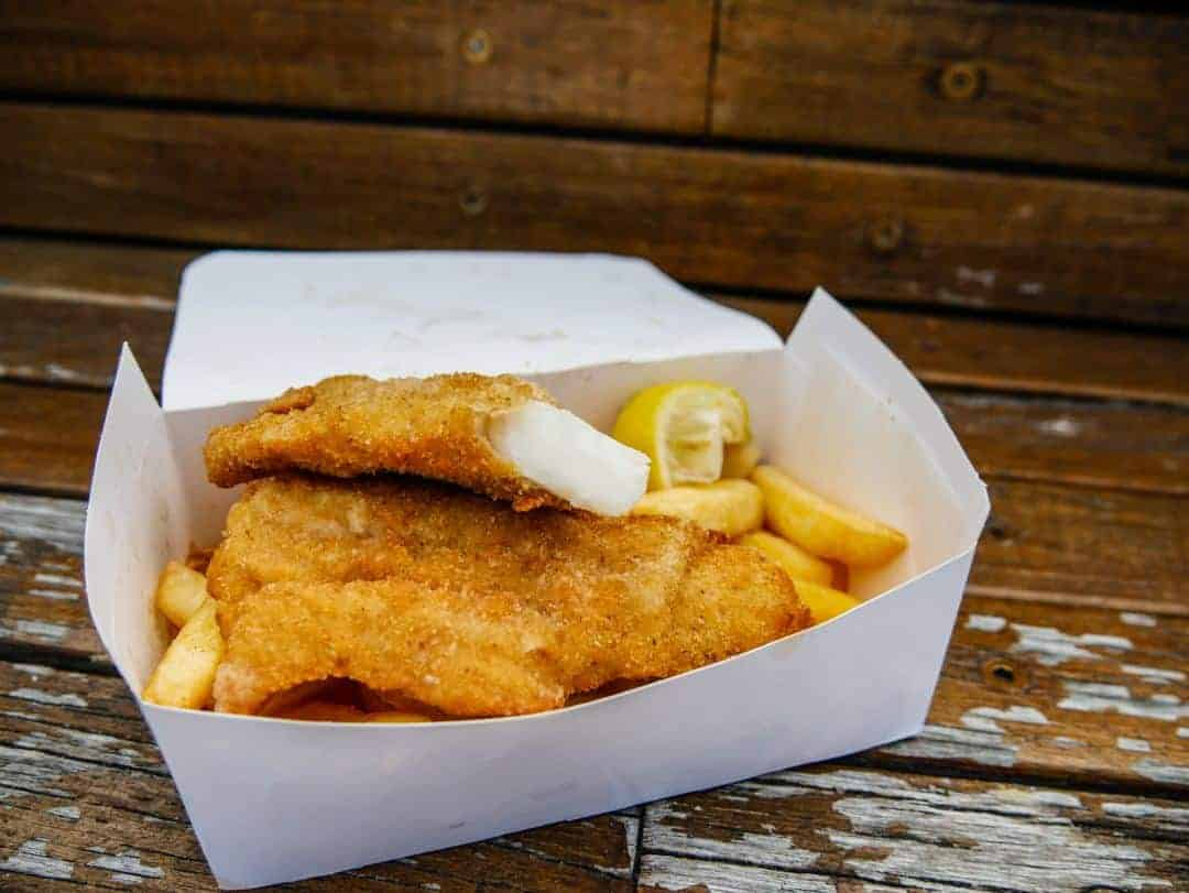 Awesome fish and chips from Flippers