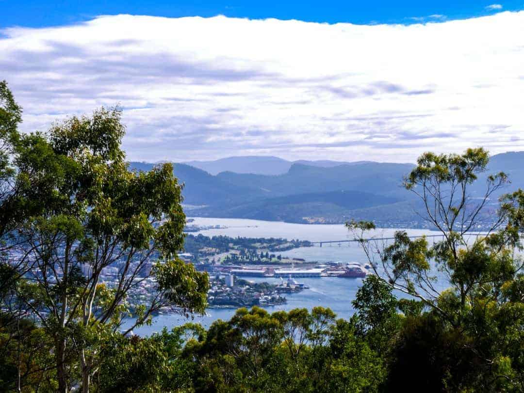 The view over Hobart