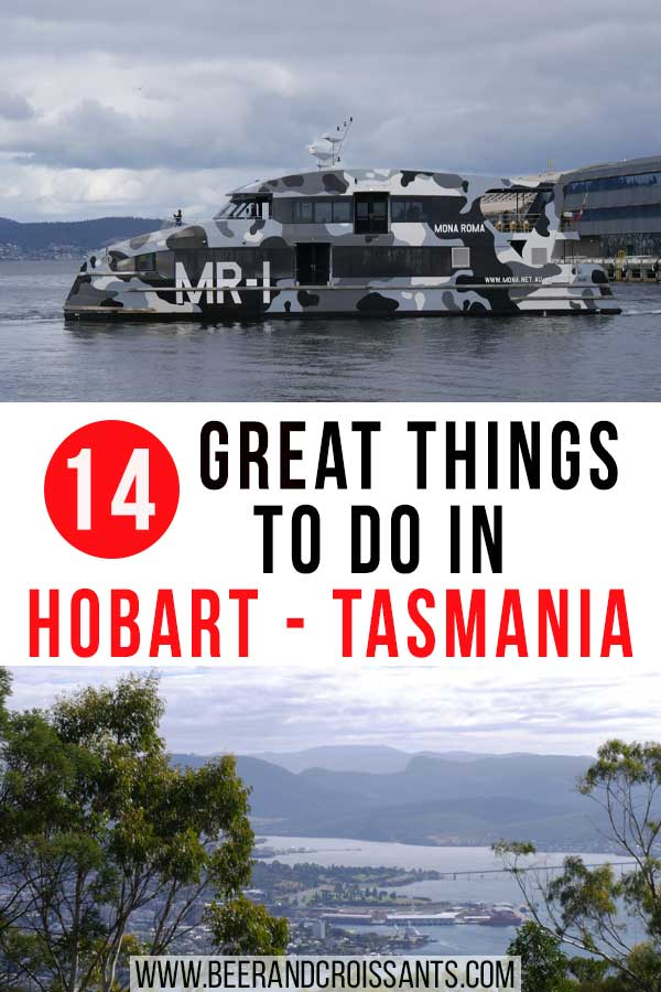 ferry and view of hobart