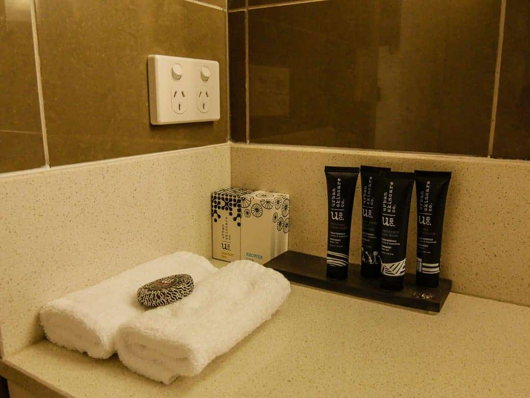 toiletries in bathroom