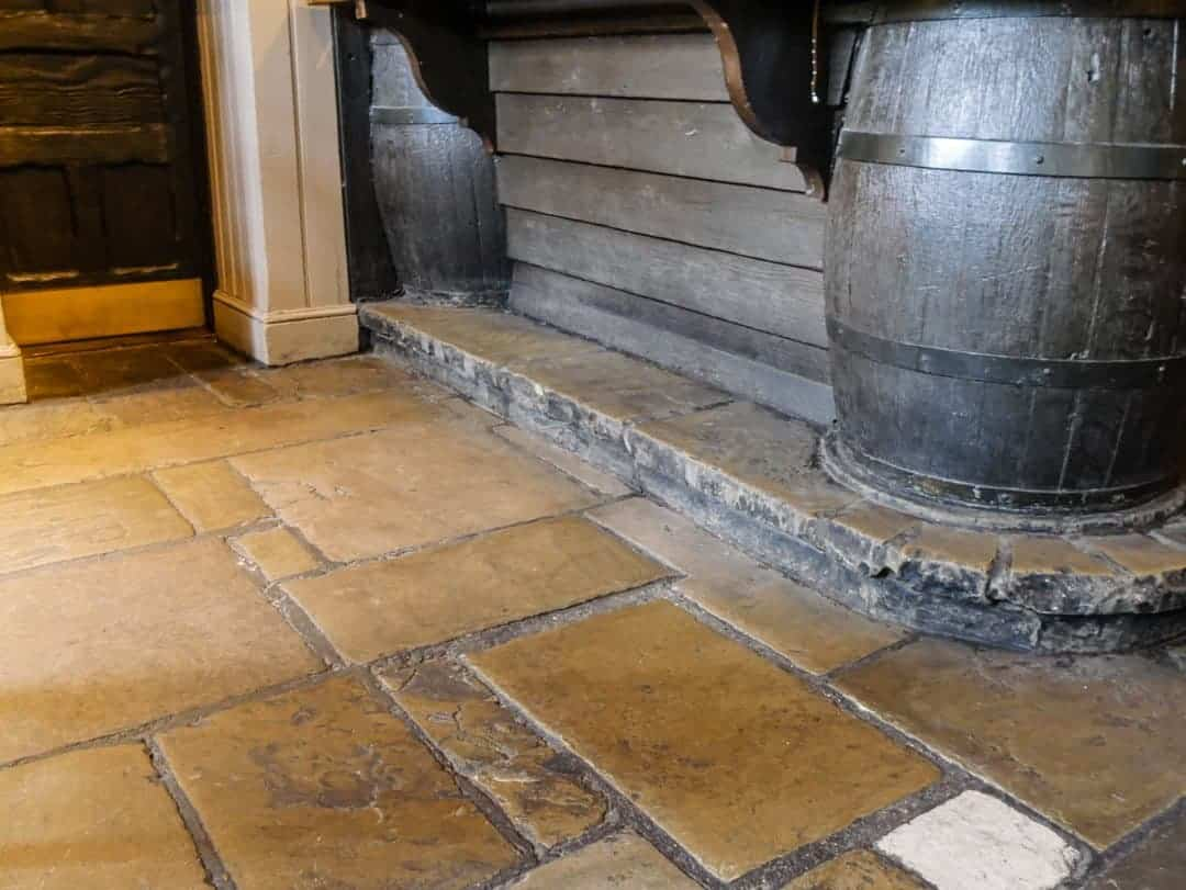 Prospect of Whitby flagstone floors