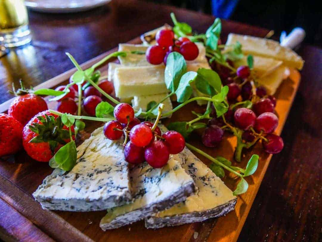 The Dickens Inn cheese platter