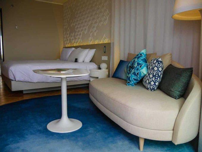 bedroom and lounge hilton malta