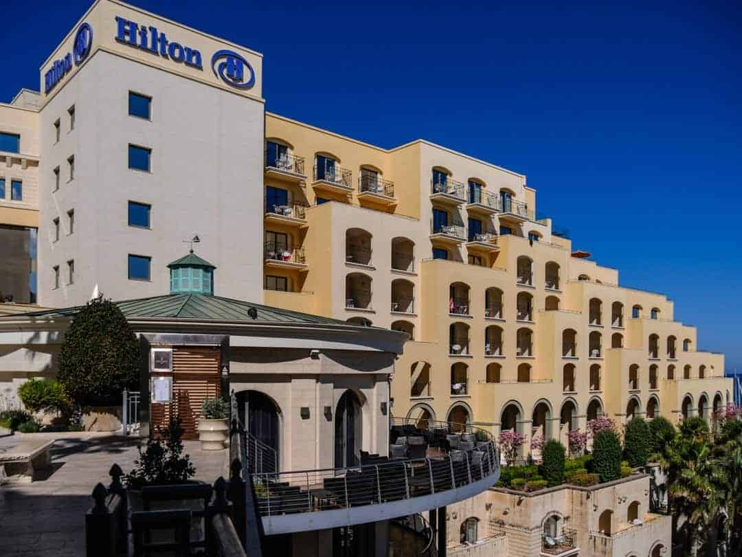 side view hilton malta
