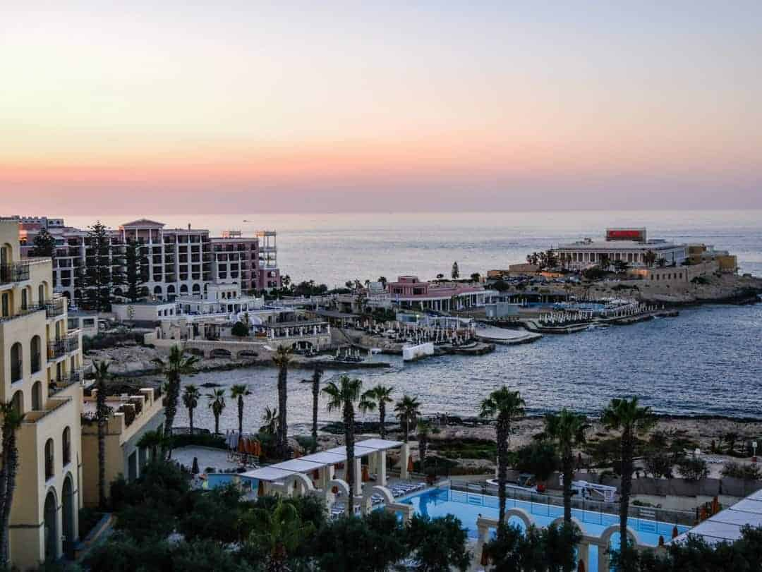 view towards casino hilton malta