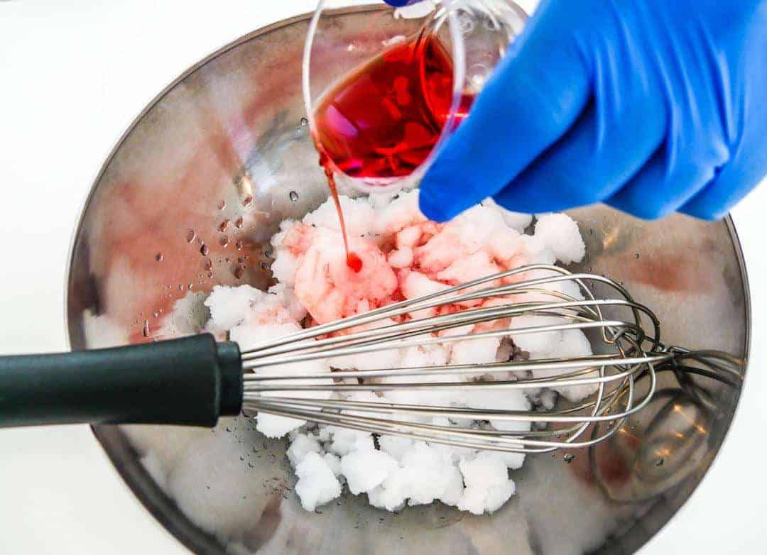 Carpigiani Gelato University making granita with campari