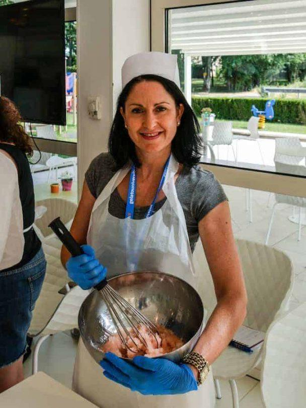 Carpigiani Gelato University me mixing granita