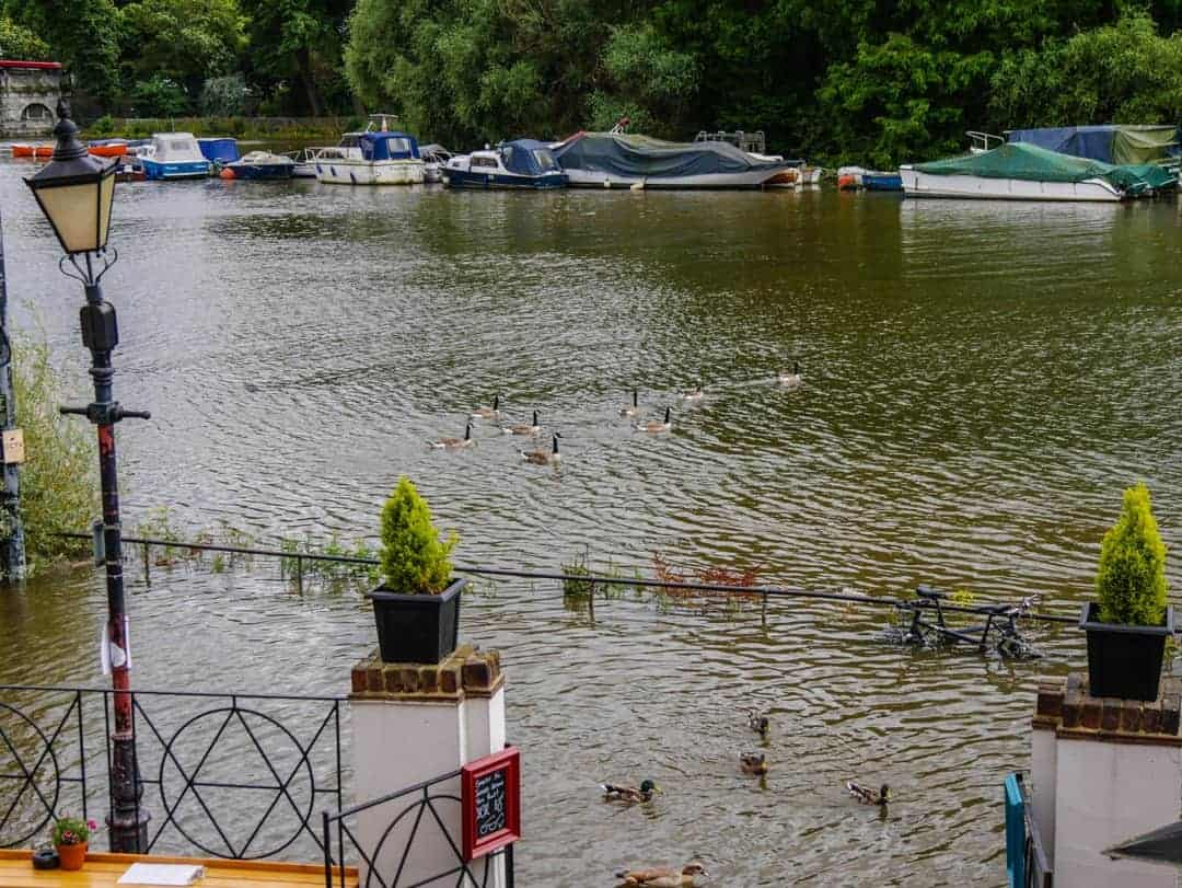 Pubs in Richmond submerged bikes
