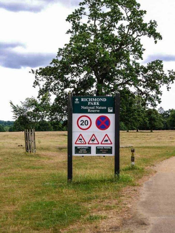 Richmond park sign