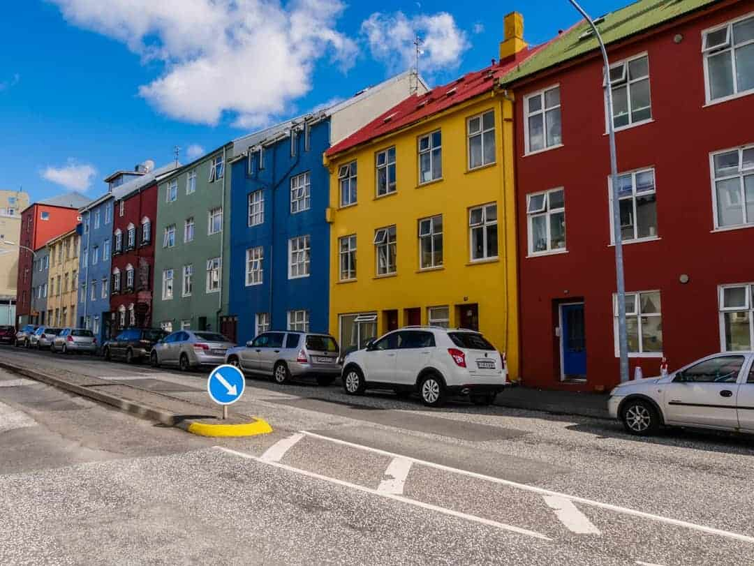 Self guided walking tour Reykjavik house colourful