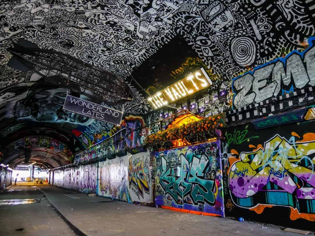 The end of the Banksy Tunnel
