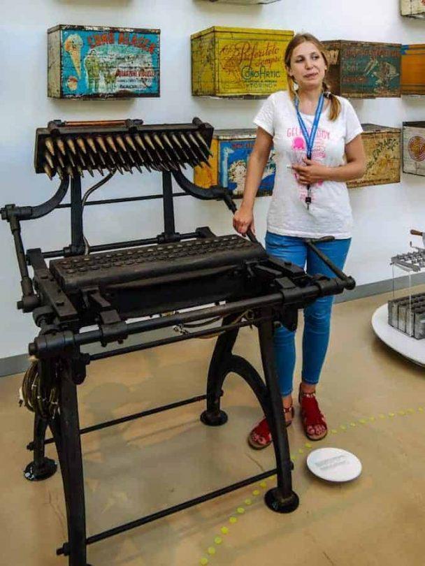 gelato machinery in museum